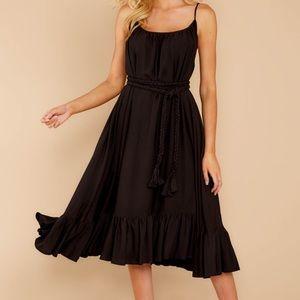 Whereabouts Unknown Black Midi Dress
